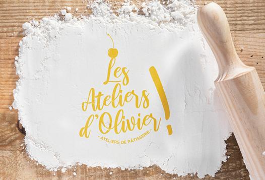 logo les ateliers d'olivier aubagne chocolatier half-square design Marie Maurer Graphiste